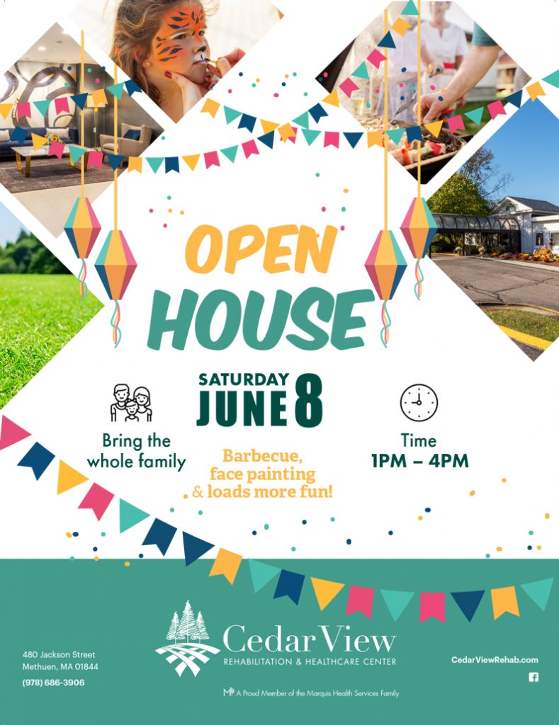 Open House June 8th at Cedar View